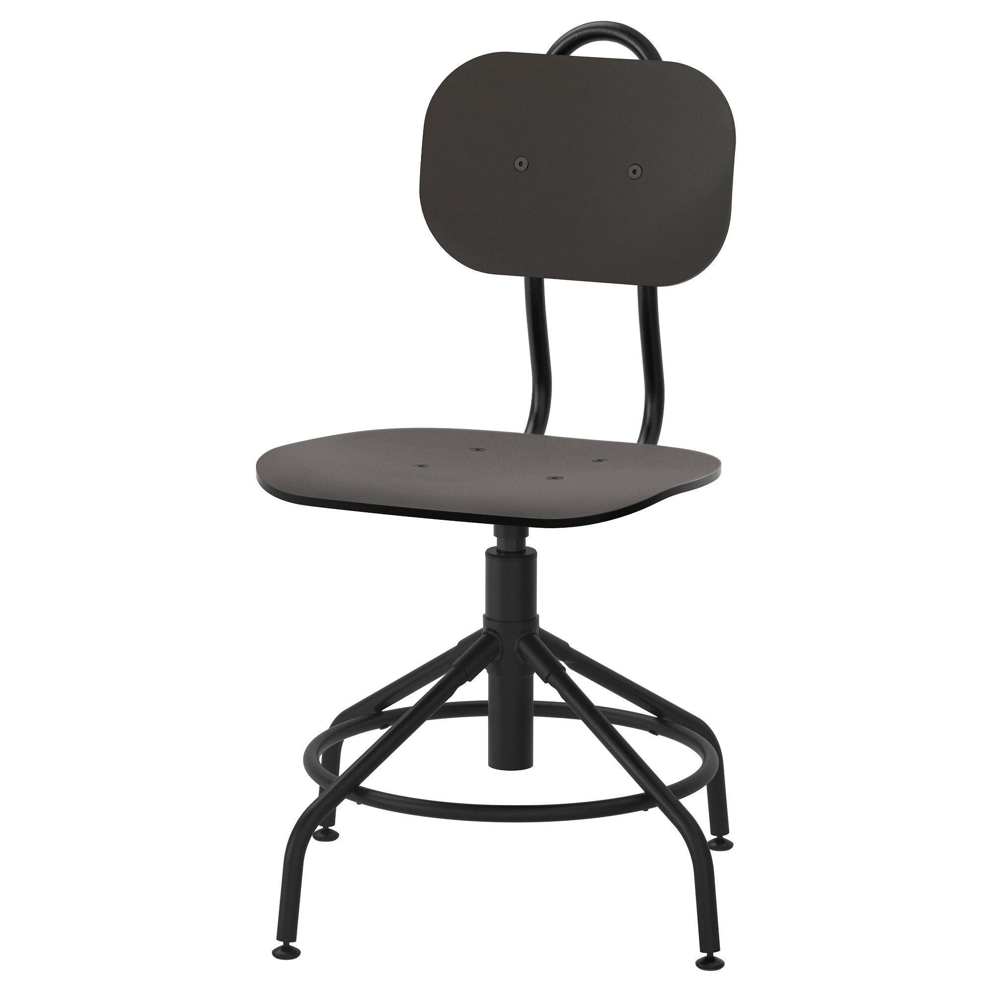 KULLABERG Swivel chair black IKEA Desk chair comfy