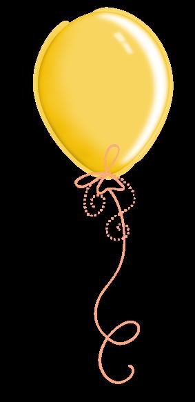 Scrap Aniversari 1 Yellow Balloons Balloons Balloon Clipart