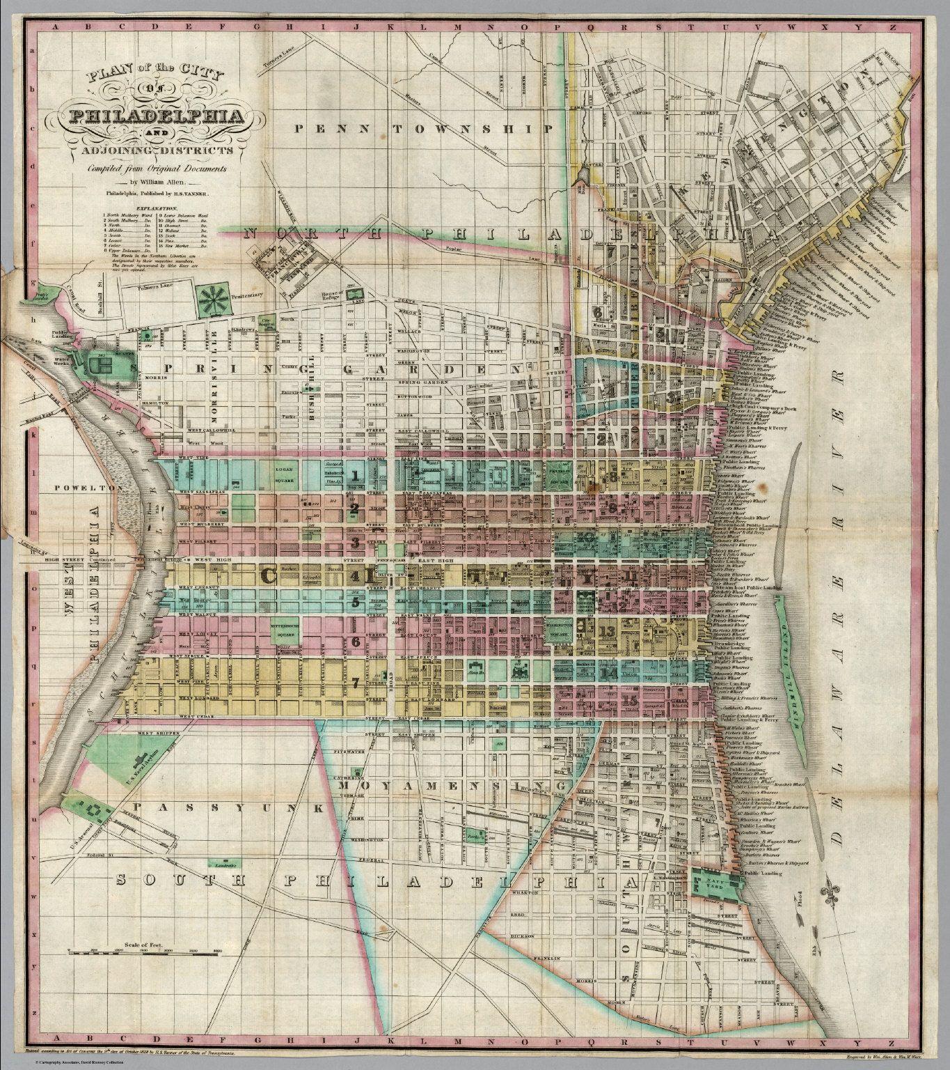 philadelphia city map circa   google search. philadelphia city map circa   google search  gouverneur