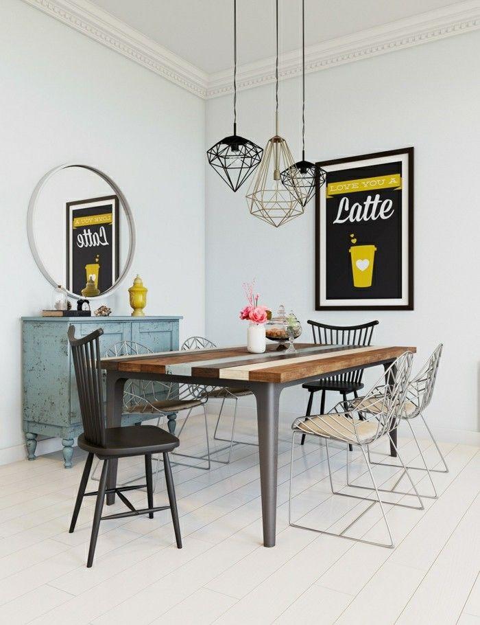 Esszimmer Einrichten Landhausstil Streifenteppich Runder Esstisch |  Esszimmer   Esstisch Mit Stühlen   Esstisch   Speisezimmer | Pinterest
