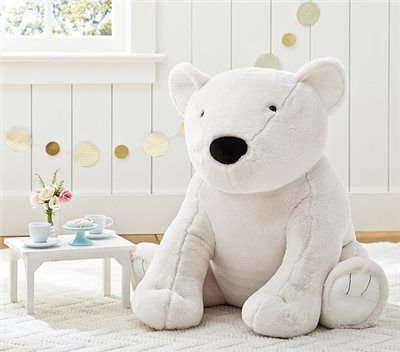 Faux Fur Jumbo Polar Bear Plush Pottery Barn Kids
