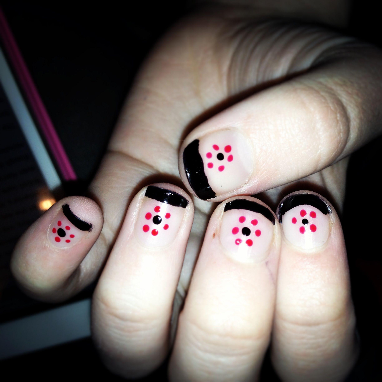 Sister's little flower nails