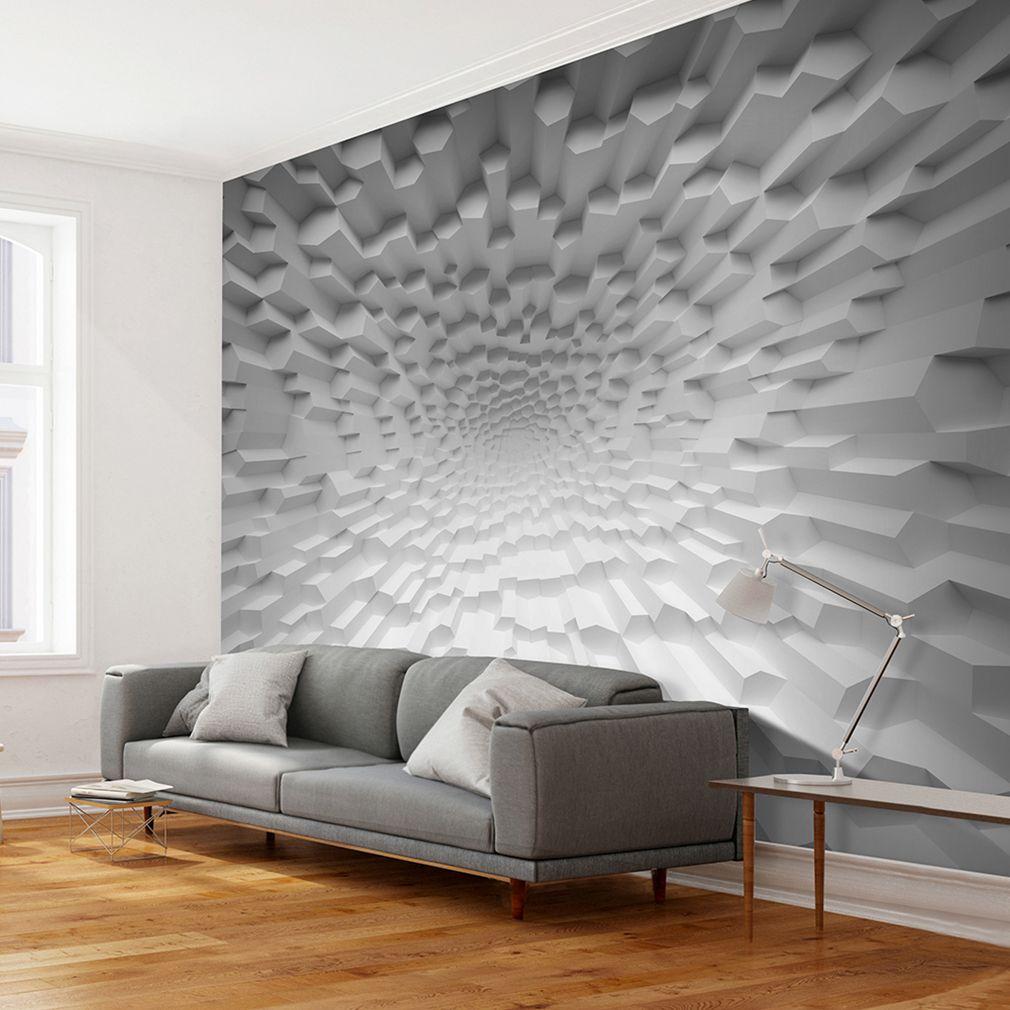 Vlies Fototapete 3d Effekt Grau Abstrakt Tapete Wandbilder Tapeten Fototapeten Sonnenuntergang Heute Sonnenaufgang Heute Sonnen In 2020 Living Room Home Decor Room