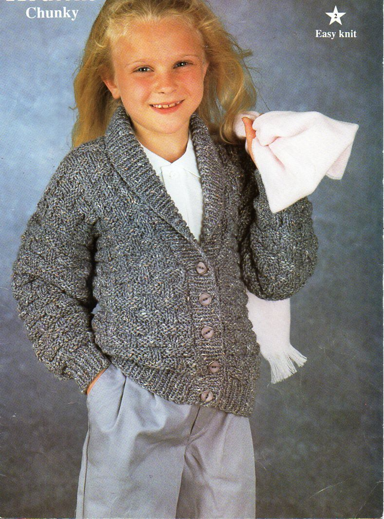 Vintage childs childrens chunky jacket knitting pattern pdf vintage childs childrens chunky jacket knitting pattern pdf bulky shawl collar basketweave cardigan 22 32 chunky bulky 12ply download bankloansurffo Choice Image