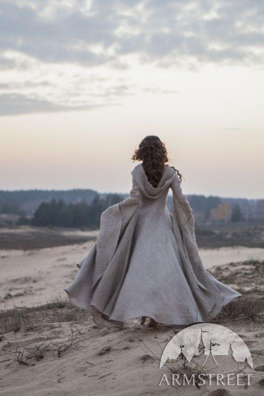 "Fantasy Dress ""Wanderer"" Linen Robe | Dress robes, Robe and Fantasy ..."