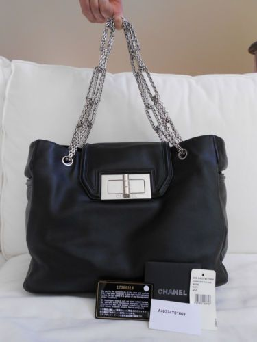 e5b8d120030d AUTHENTIC Chanel Mademoiselle Shopper Tote Bag