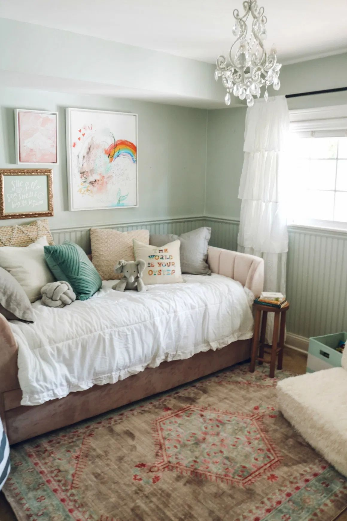 A Bedroom For A 5 Year Old Or 16 Year Old Girl Makeover Nesting With Grace Girls Bedroom Makeover Tween Girl Bedroom Bedroom Decor