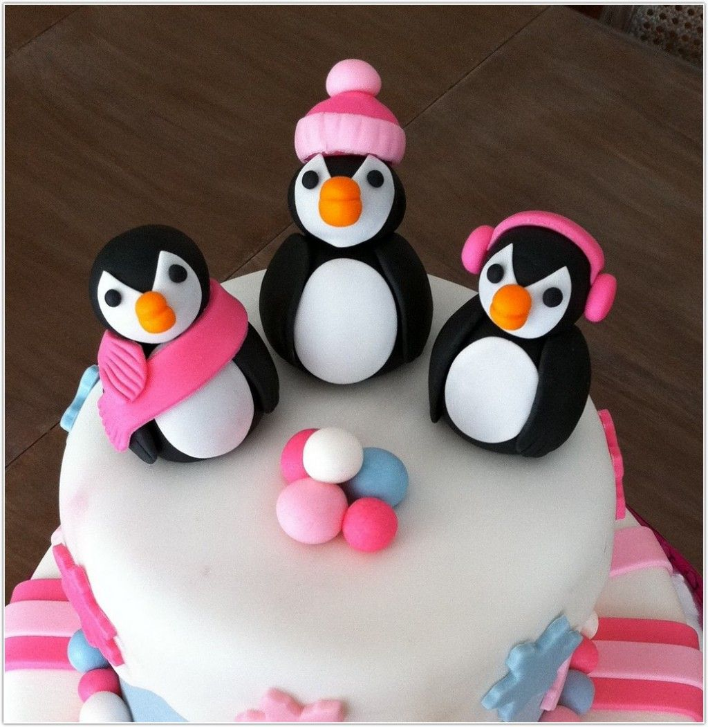 White Penguin Birthday Cakes Designs Image Ideas In Birthday Cake