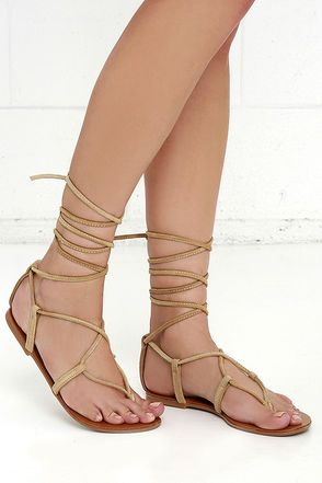 a65c696fd7d When you re strapped into the Steve Madden Werkit Tan Suede Leather Leg  Wrap Sandals
