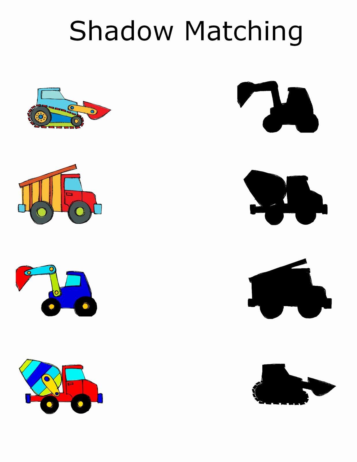 Preschool Matching Worksheets In