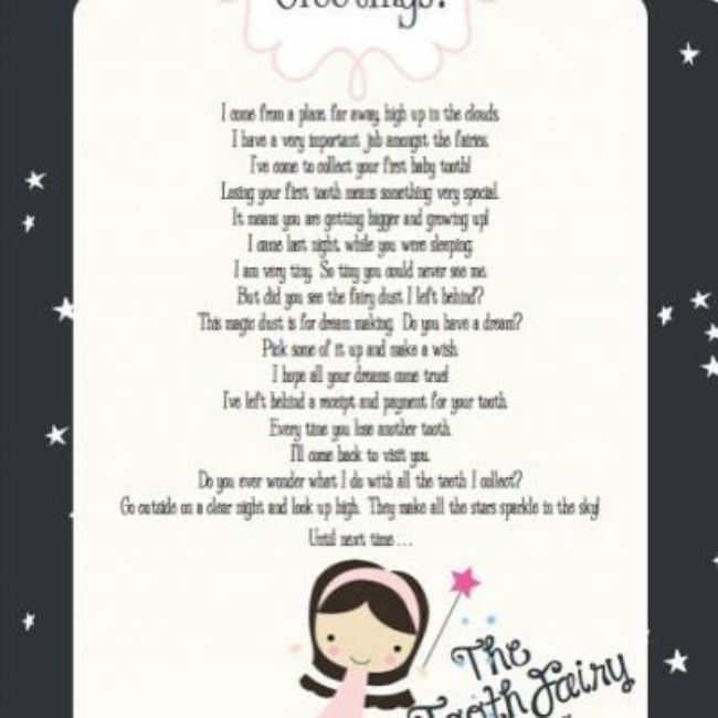 Tooth fairy letter free printable toothy fairy ideas for Fairy letter ideas