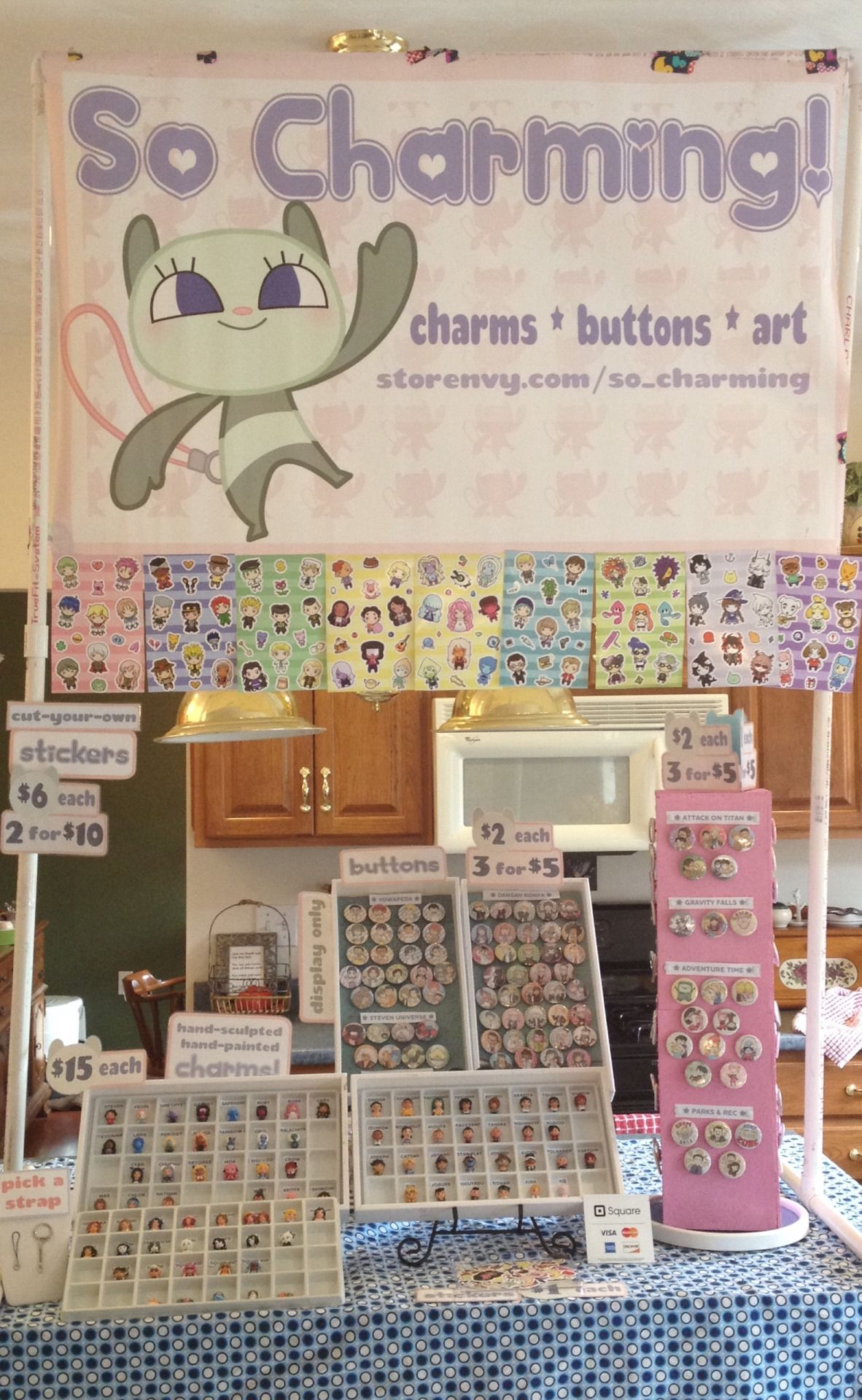 Display Idea For Jewelry Buttons Stickers Artist Alley Button Art