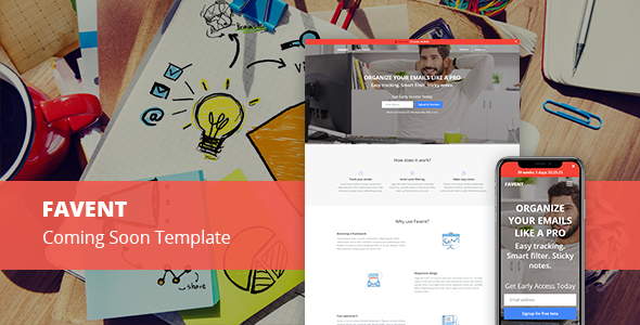 Favent Coming Soon Responsive Template Templates