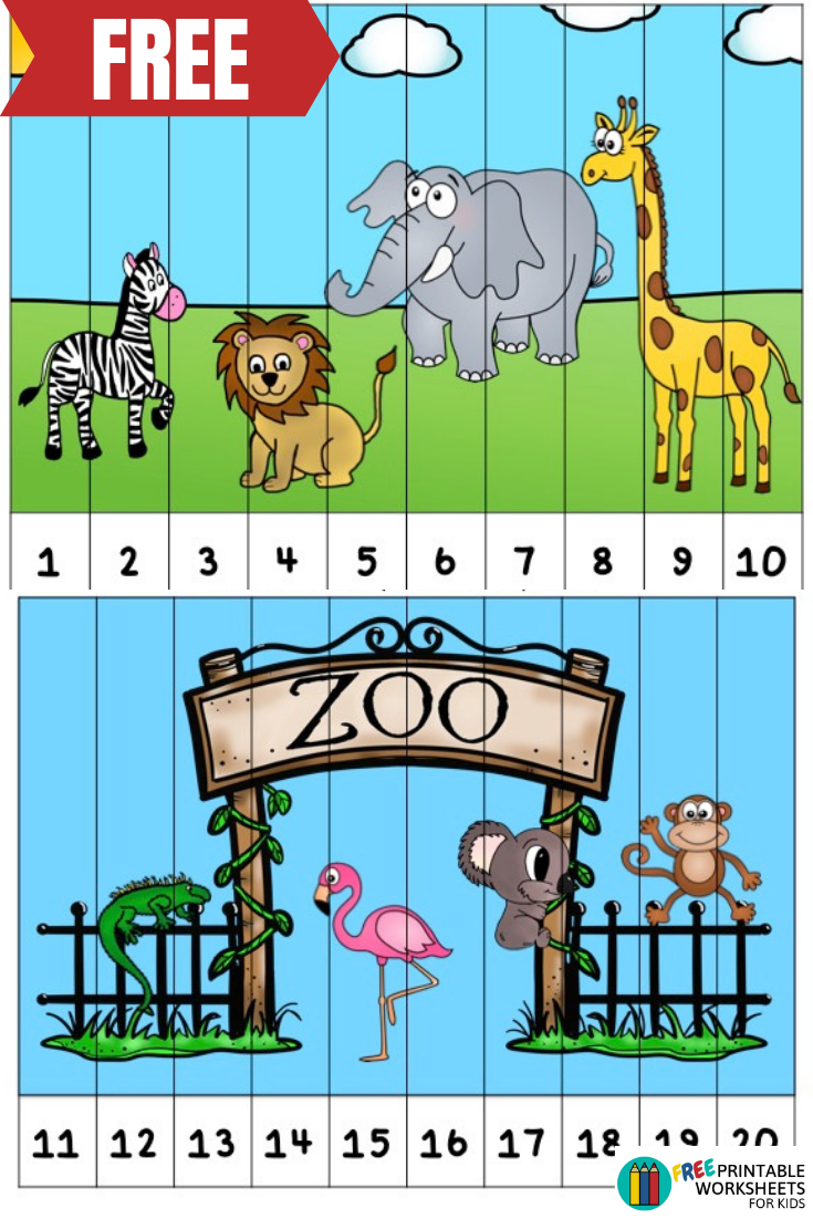 Perfect Addition To A Zoo Themed Learning Unit Teach Preschool And Kindergarteners Numbers 1 20 Zoo Activities Zoo Activities Preschool Zoo Animals Preschool [ 1102 x 735 Pixel ]