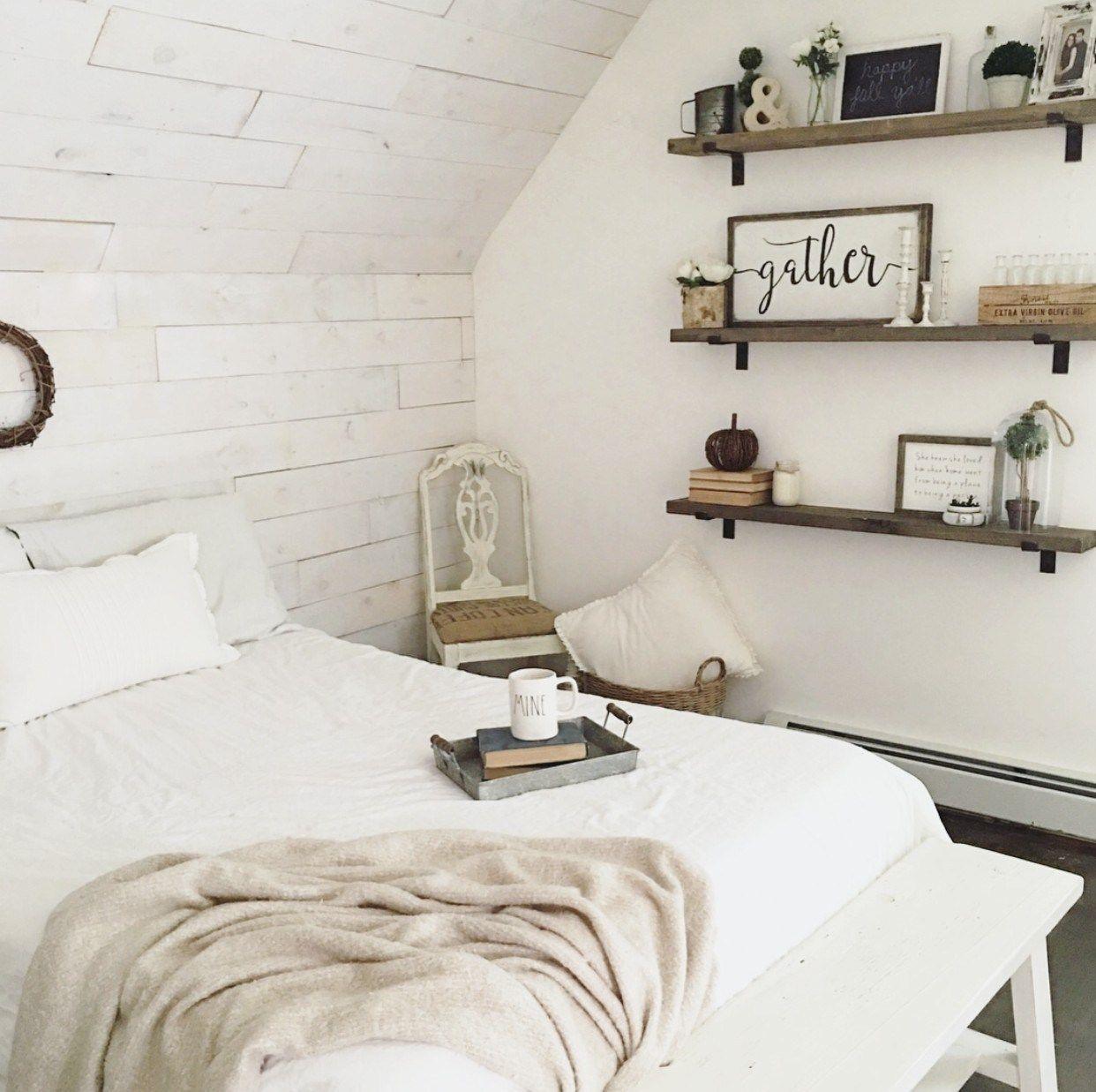 Farmhouse Bedroom Shelves Shelves In Bedroom Remodel Bedroom Farmhouse Style Bedrooms