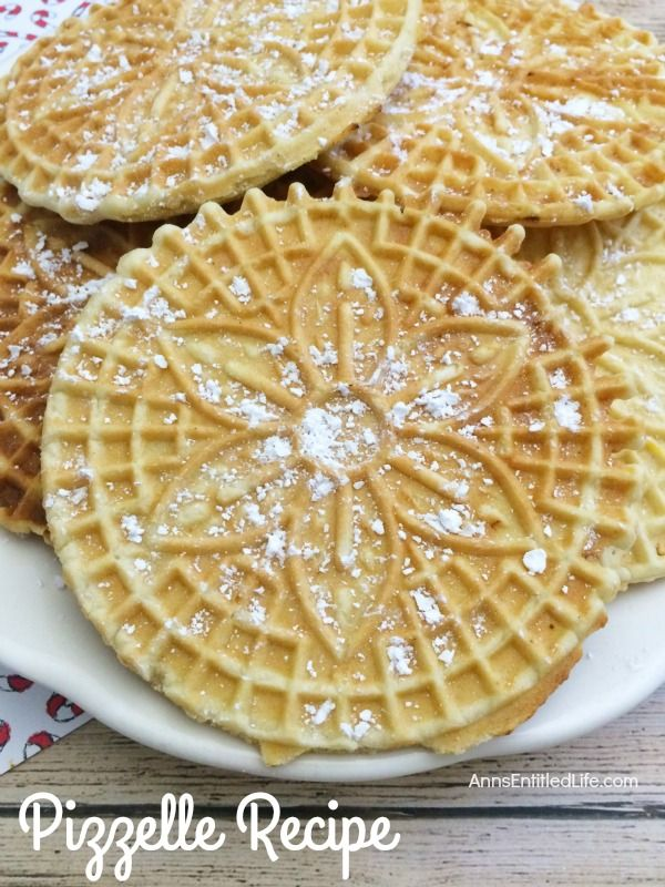 Pizzelles Are A Delicious Italian Wafer Cookie That My Grandmother