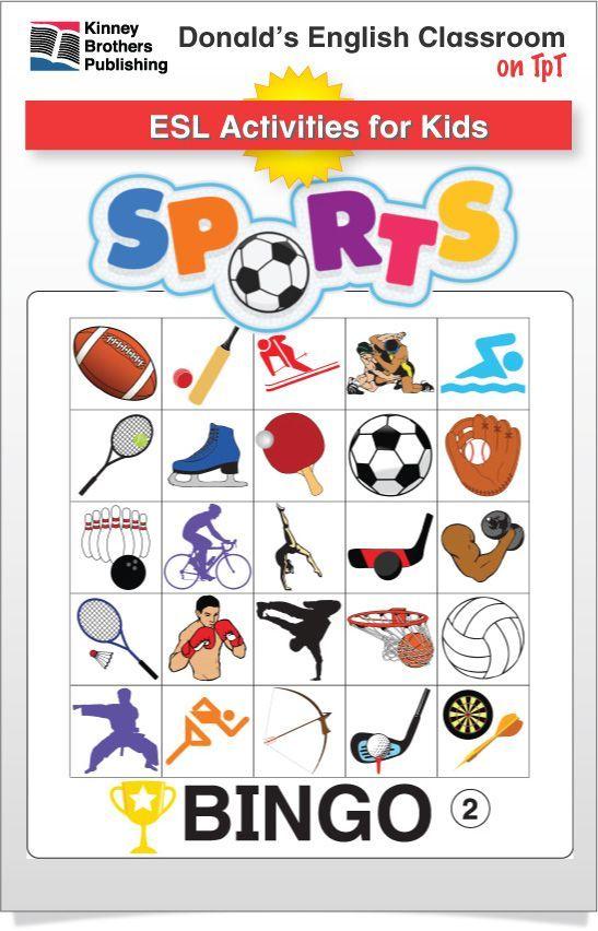 esl games sports bingo all subjects and grades tpt esl games esl resources. Black Bedroom Furniture Sets. Home Design Ideas