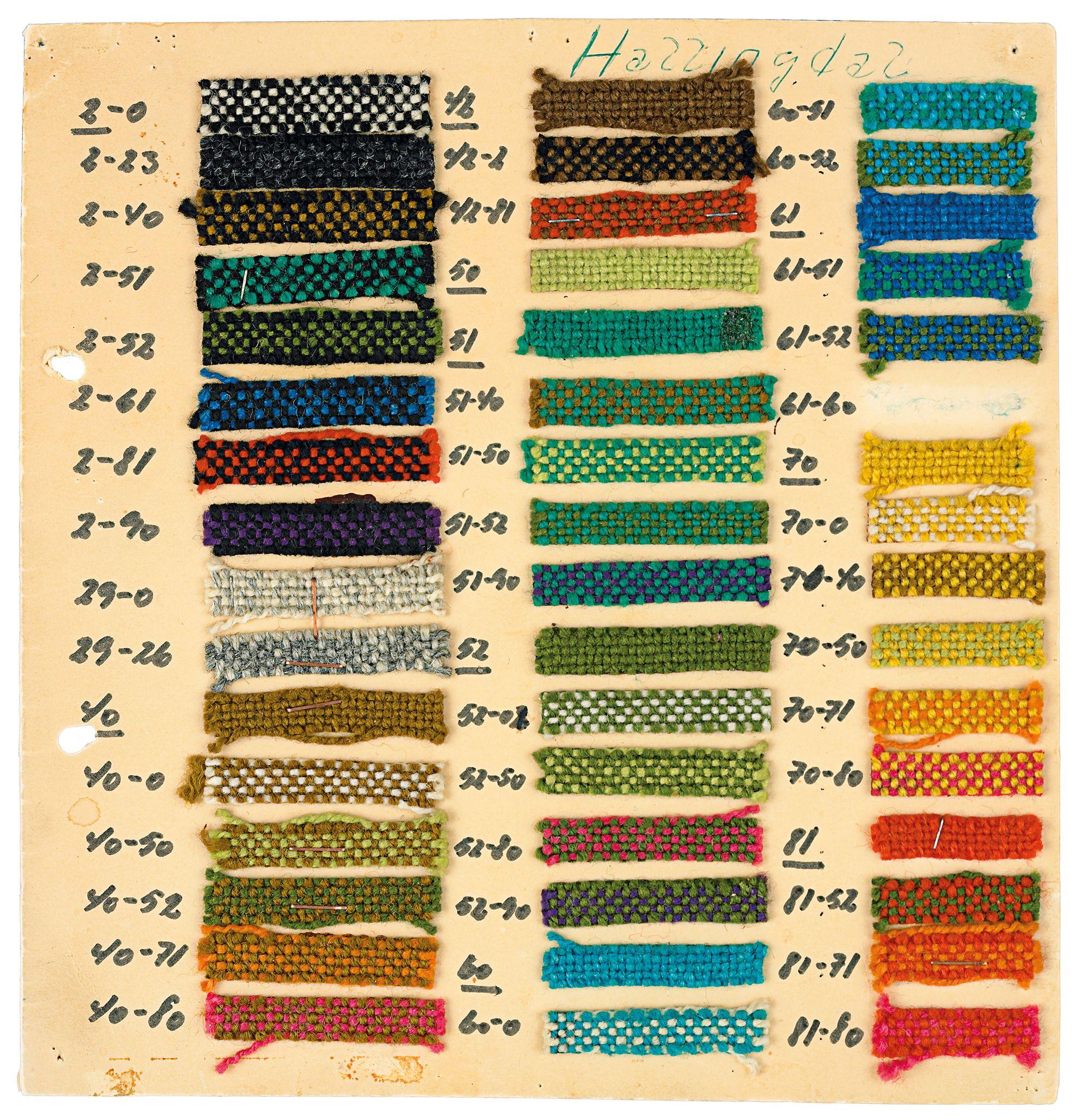 Hallingdal colour sample proposal