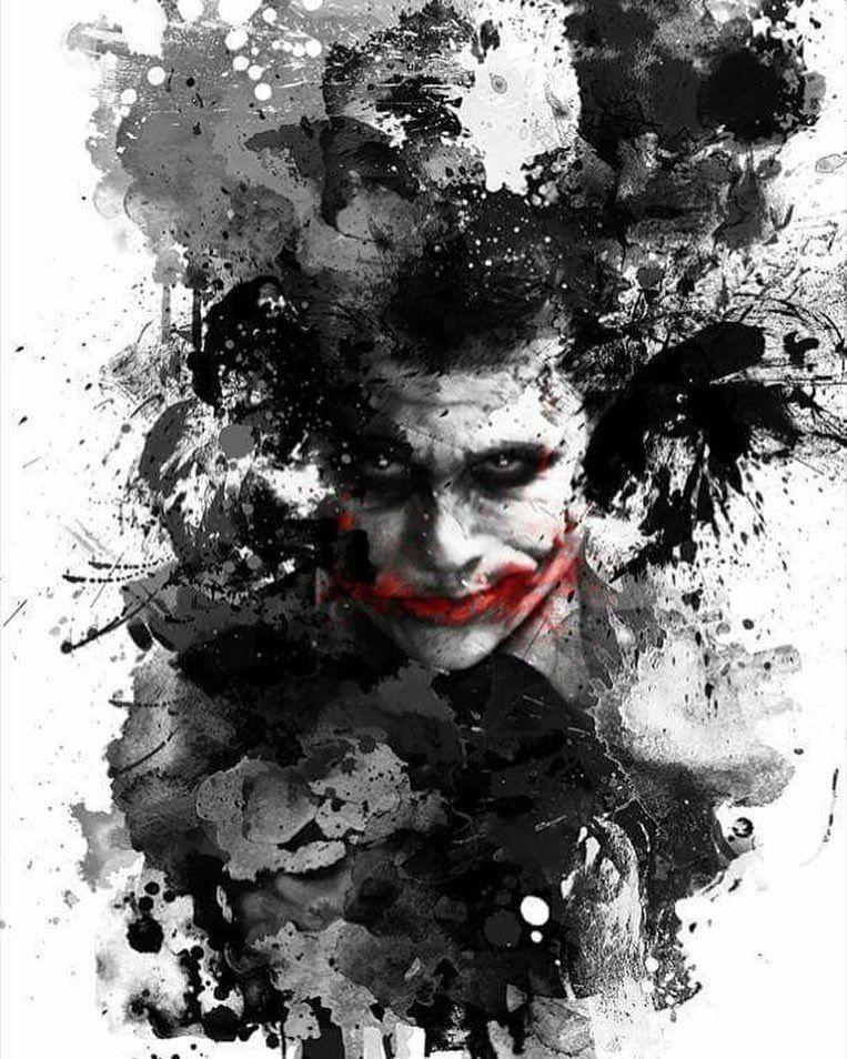 Pin Di Coringa Black and white cool joker picture wallpaper