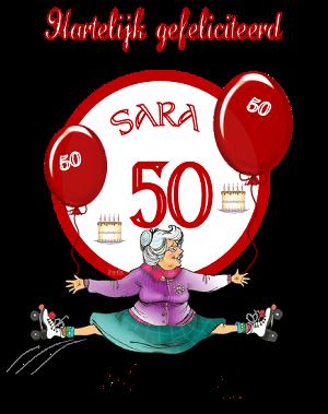 Voorkeur Sarah plaatjes en Sara 50 jaar bewegende plaatjes en kaartjes van  XV46