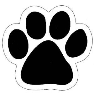 picture regarding Free Printable Paw Prints called Paw Print Stencil Printable Cost-free - ClipArt Ideal Sewing