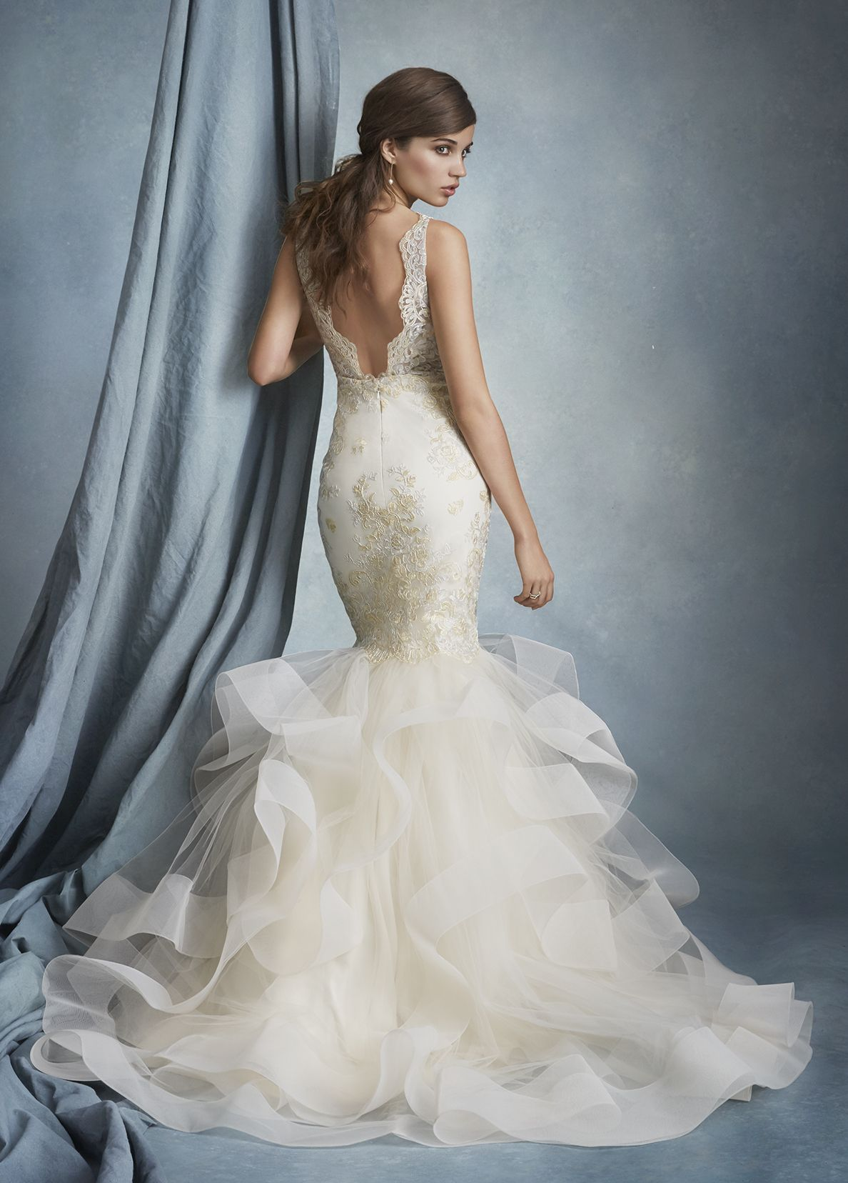 Bridal Gowns, Wedding dresses by Tara Keely Style 2608 - Ivory Gold ...