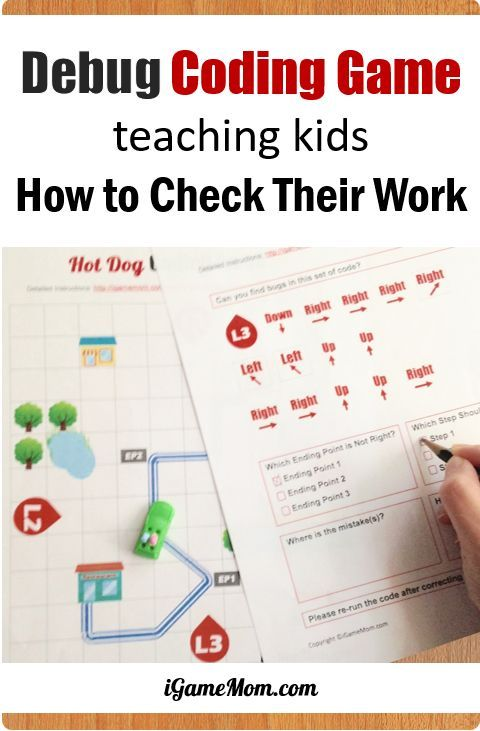 Printable Computer Coding Game Teaching Kids How To Check Their Work Debug Finding And Fixing Program Errors F Teaching Coding Coding Games Coding For Kids