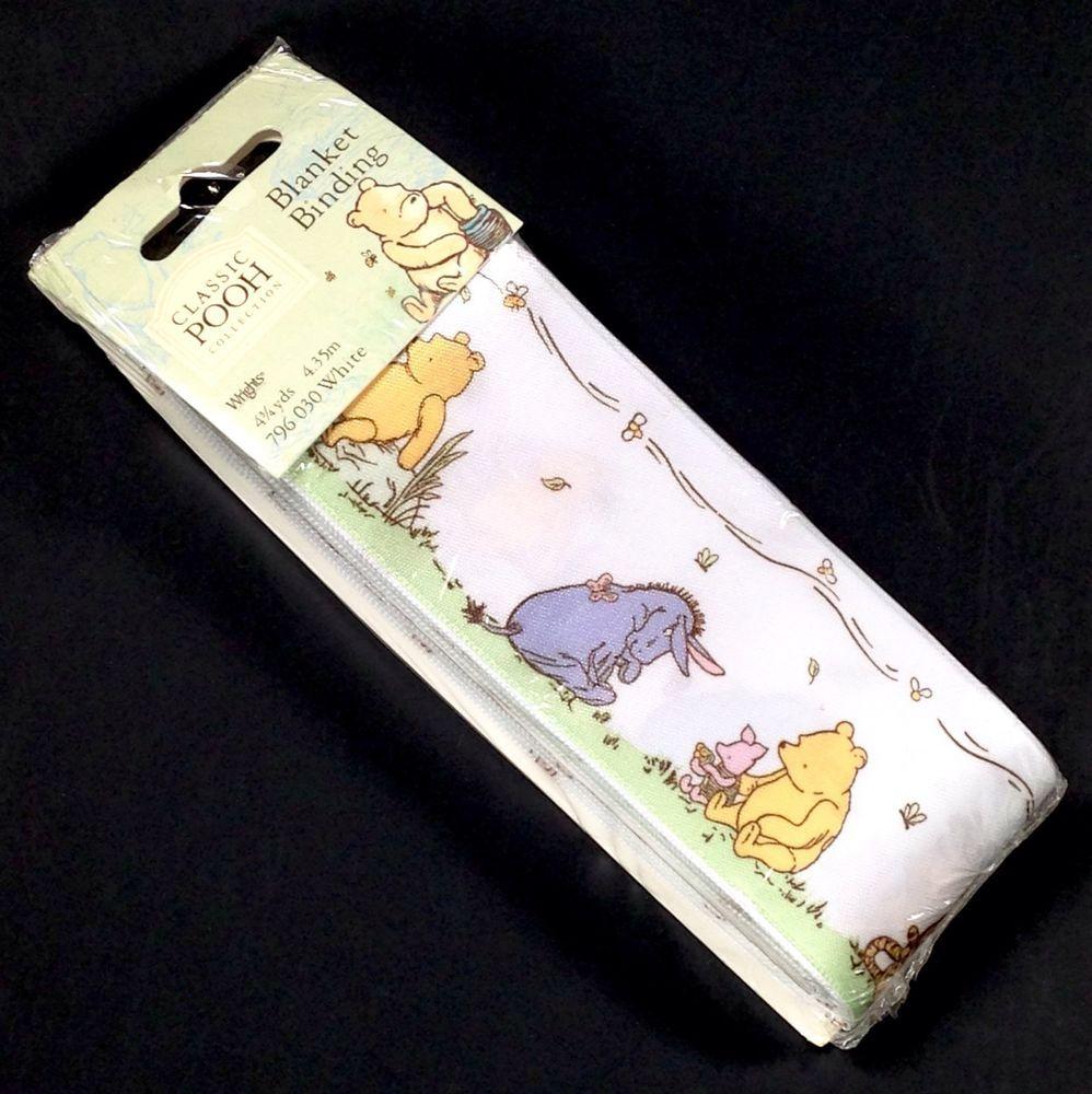 Wrights Disney Classic Winnie The Pooh Blanket Binding