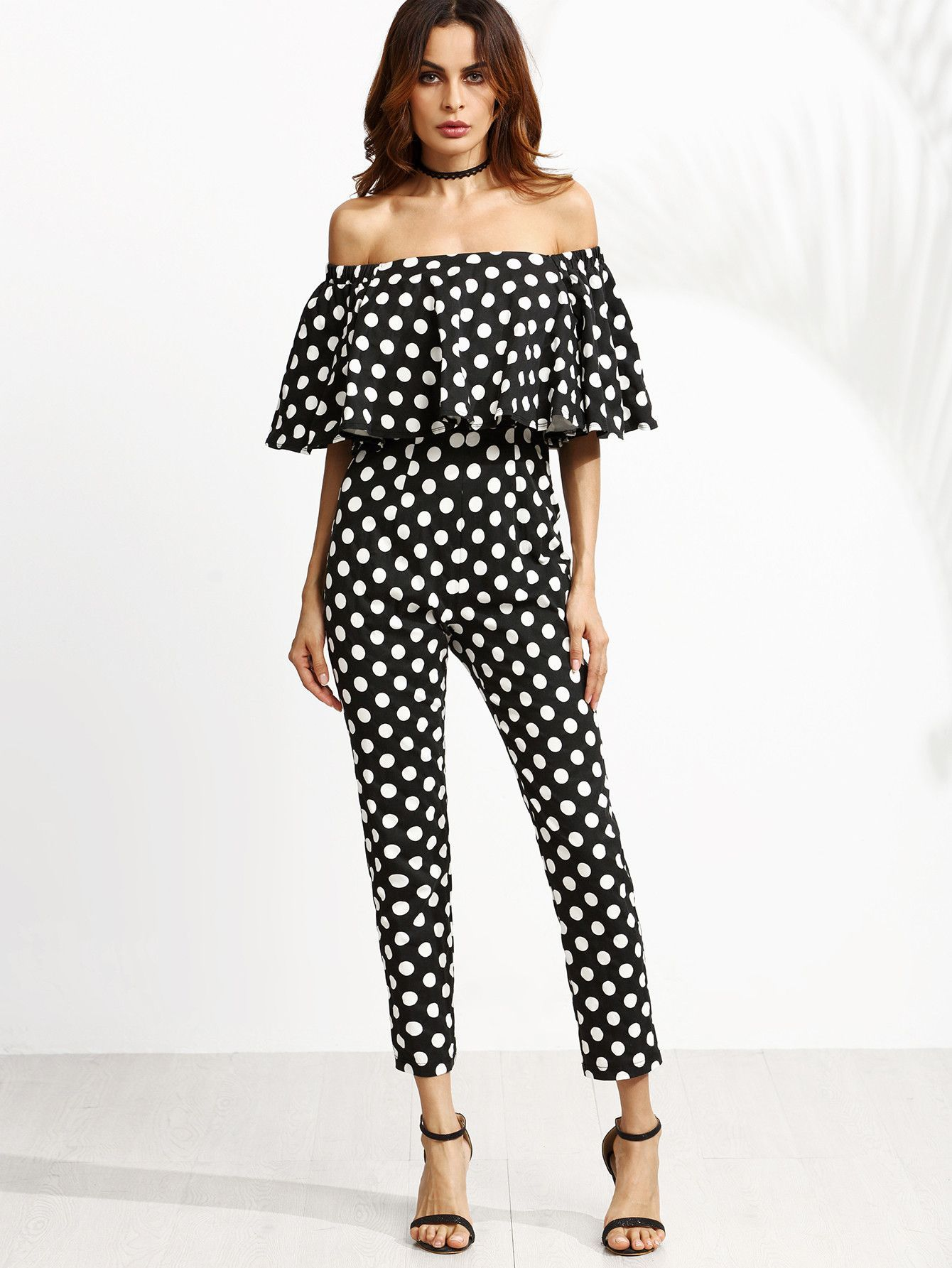 e1c833ebe1 It's doesn't get more bold and trendy than this amazing one piece polka dot  jumpsuit! We love everything about it! - Bust(Cm): - XS:79cm, S:83cm,  M:87cm, ...