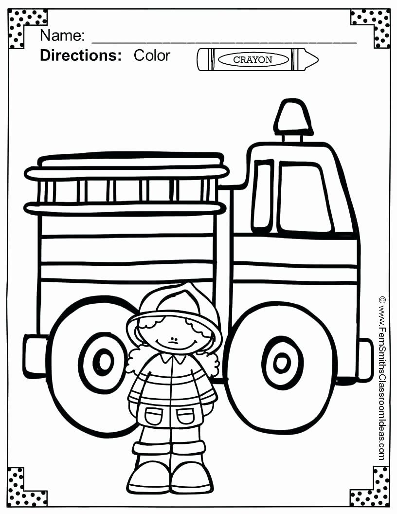 Free Fire Safety Coloring Pages New Fire Prevention Coloring