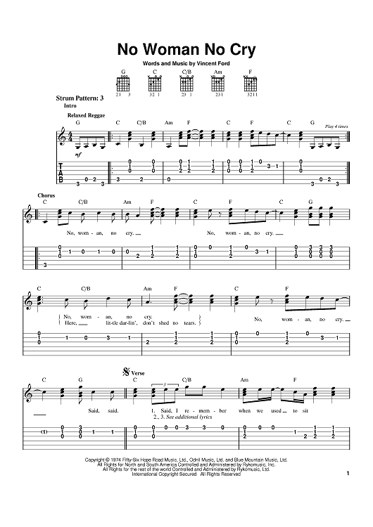 No Woman No Cry | Stuff to Buy | Pinterest | Sheet music, Crying and ...