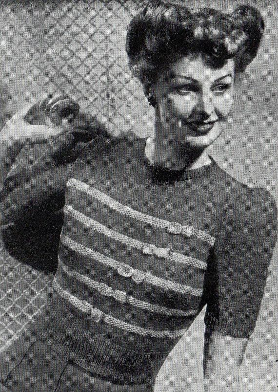 1940/'s Wartime Sweater with Bows