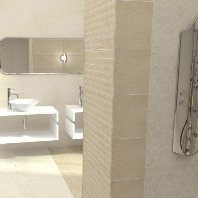 Cheap Ceramic Bathroom Tiles: 25x50cm Studio Sand Relieve Decor Wall Tile