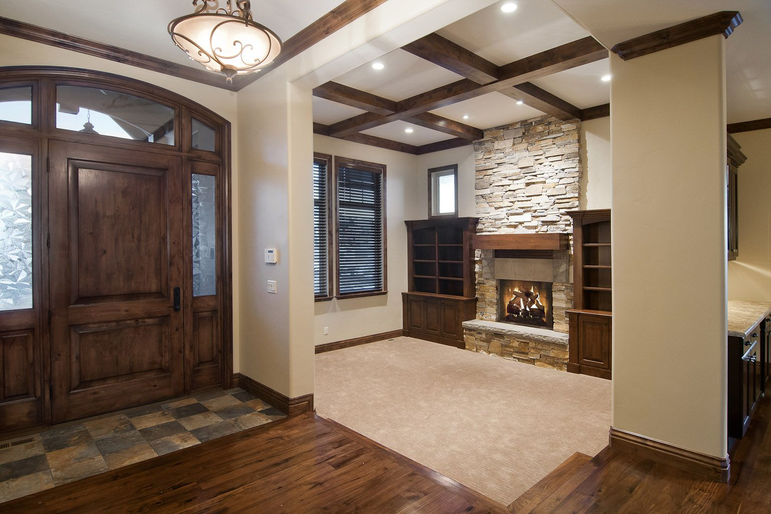 Front Entry   House rooms, Home living room, Home builders