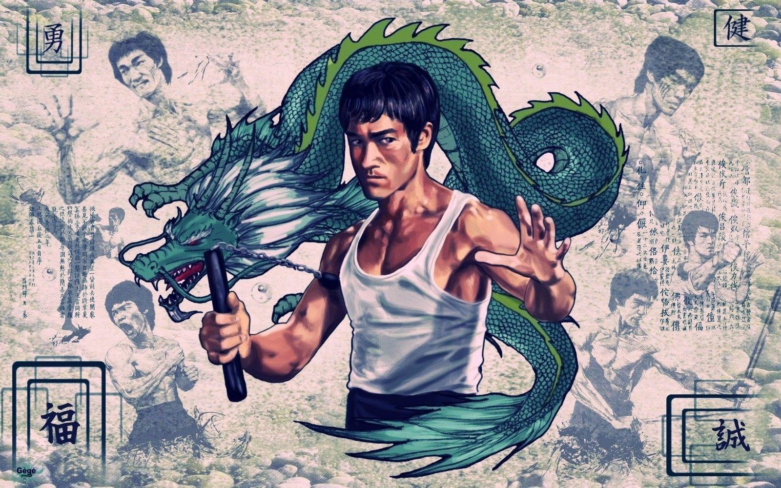 Bruce Lee Kung Fu Movie Poster Poster Art Print Film 50 70cm China Mainland Bruce Lee Art Bruce Lee Martial Arts Bruce Lee