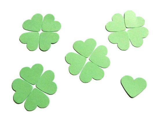 Table confetti - light green ***Wish on a four leaf clover - confeti