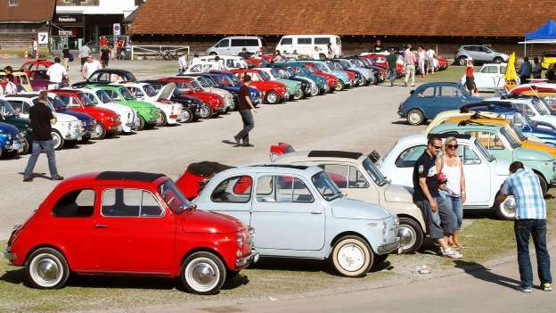 The Fiat 500: guaranteed to add some colour to any car park. - Arnd Wiegmann | Newscom | Reuters