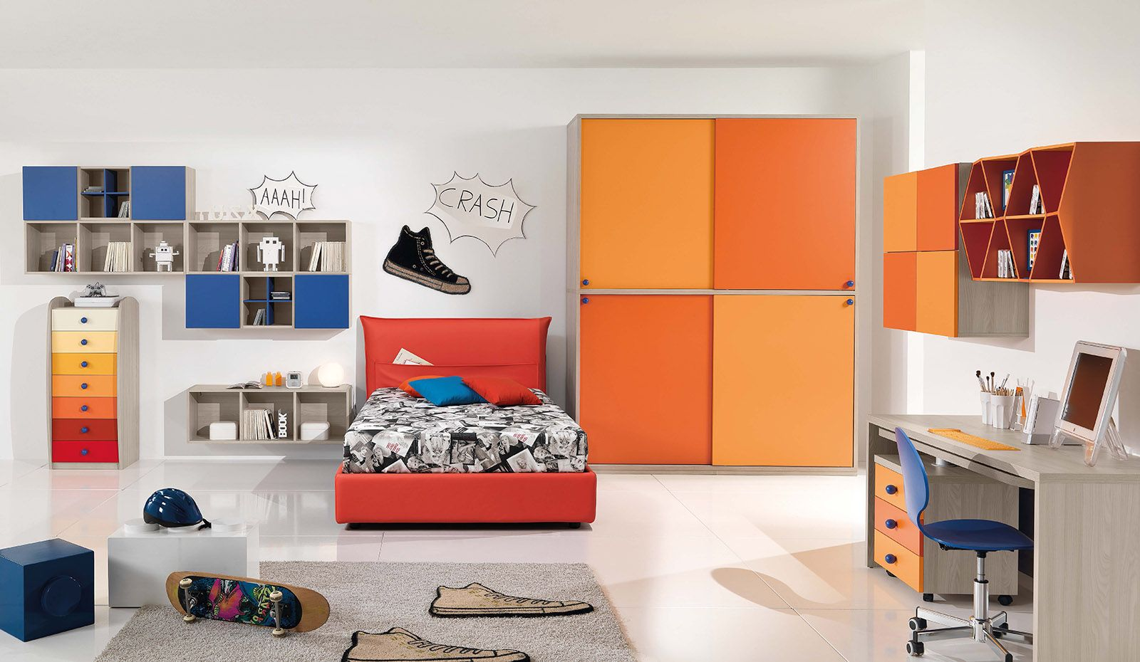 Armadio Per Bambini Design : Camerette per adolescenti arredamento adolescenti