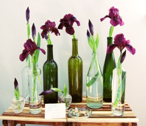 Lovely Wine Vases Perfect For A Wine And Bread Themed First