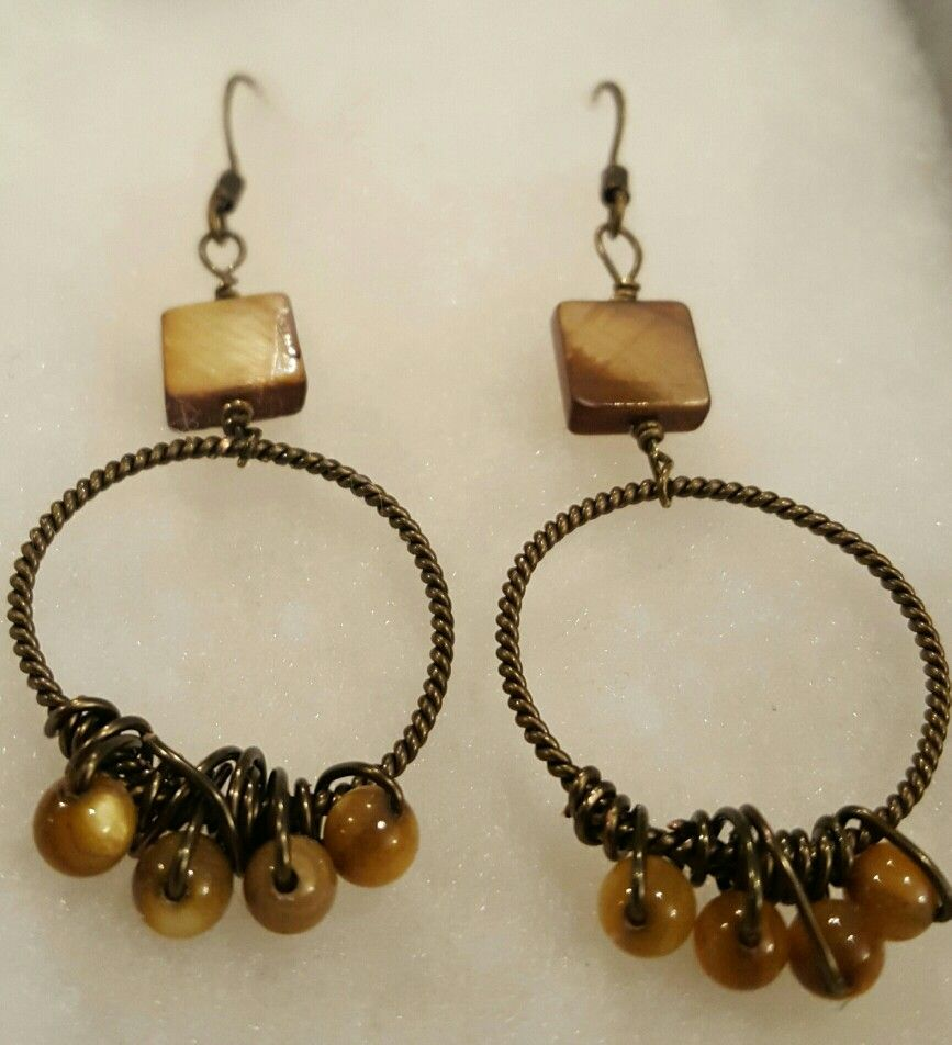 Hoop earrings. Use a power drill to make the twisted wire   MY ...