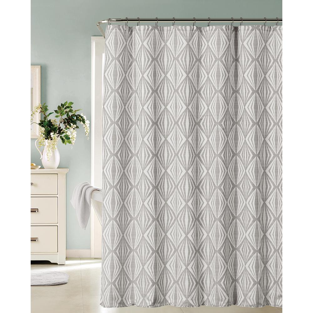 Dainty Home Romance 72 In Silver Shower Curtain Silver Shower