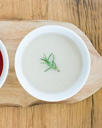 This extra-fast vegan soup gets a hint of fruity sweetness from an apple and a double dose of creaminess from almond milk and pureed raw cashews.  Slideshow: More Vegetable Soup Recipes