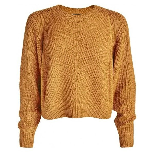 Vato Neck cropped knit sweater (6.085 RUB) ❤ liked on Polyvore ...
