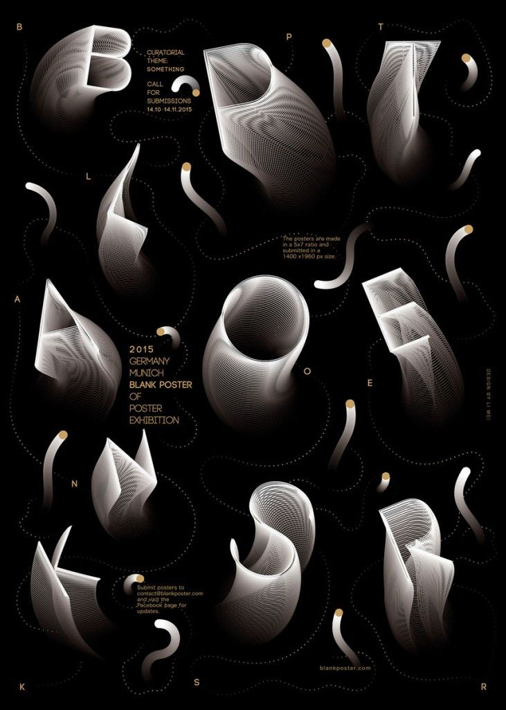 Experimental Typographyic Poster Shadowy Black White