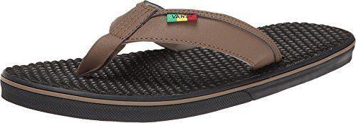 Vans Men s La Costa Sandals Shintake Rasta Flip-Flop  12130854f
