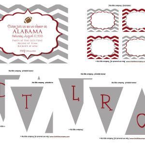 Alabama and elephant party and tailgate decor! thislittlecompany.com $5 - $19