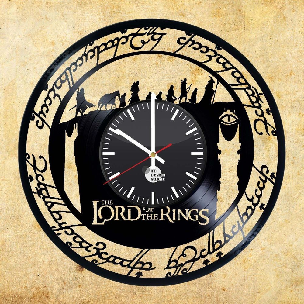 The lord of the rings the hobbit handmade vinyl record modern the lord of the rings the hobbit handmade vinyl record modern unique wall clock handmade amipublicfo Image collections
