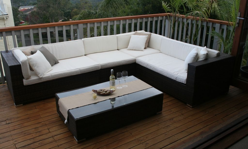 Smaller Size Gartemoebe 6 Seater L Shape Lounge My Wicker Outdoor Sectional Sofa Outdoor Sectional Sectional Sofa