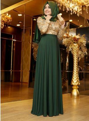 Robe soiree longue pour femme voilee 2014