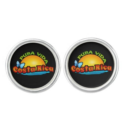 Cufflinks for Ticos and Costa Rica fans